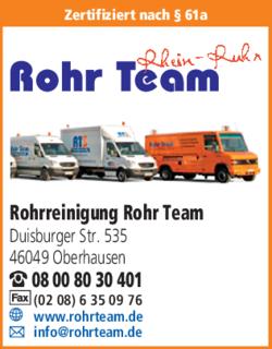 rohrreinigung rohr team in oberhausen marienkirche das. Black Bedroom Furniture Sets. Home Design Ideas