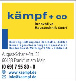 Anzeige Heizung Kämpf + Co Innovative Haustechnik GmbH