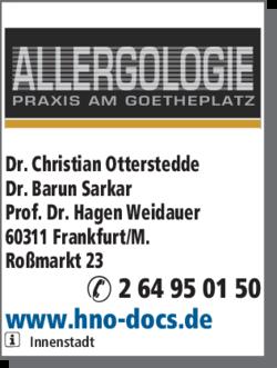 Anzeige Allergologie Praxis am Goetheplatz