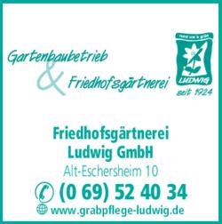 Anzeige Friedhofsgärtnerei Ludwig GmbH