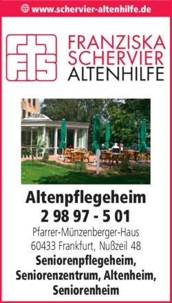 Anzeige Altenpflegeheim Pfarrer-Münzenberger-Haus