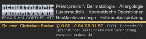Anzeige Dermatologie Praxis am Goetheplatz