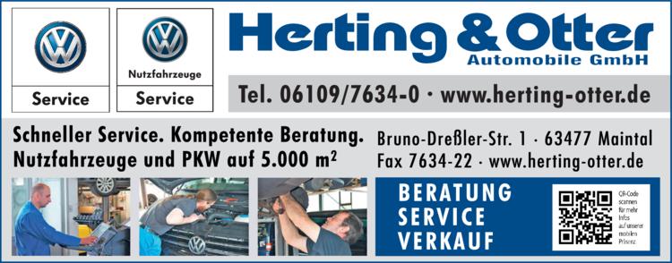 Anzeige Auto Herting & Otter Automobile GmbH