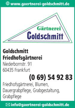 Anzeige Goldschmitt Friedhofsgärtnerei