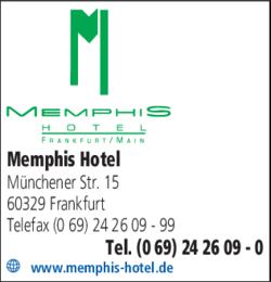Anzeige Memphis Hotel