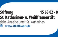 Anzeige Stiftung St. Katharinen- u. Weißfrauenstift