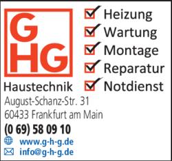 Anzeige GHG GmbH