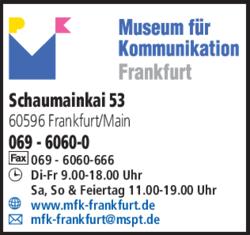 Anzeige Museum für Kommunikation Frankfurt