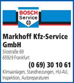 Anzeige Auto Service Markhoff Kfz-Service GmbH