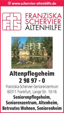 Anzeige Altenpflegeheim Franziska-Schervier-Seniorenzentrum