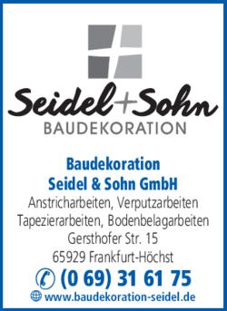 seidel sohn gmbh maler baudekoration in frankfurt in das rtliche. Black Bedroom Furniture Sets. Home Design Ideas