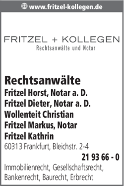 Anzeige Fritzel & Kollegen