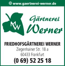 Anzeige Friedhofsgärtnerei Werner