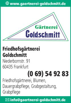 Anzeige Friedhofsgärtnerei Goldschmitt