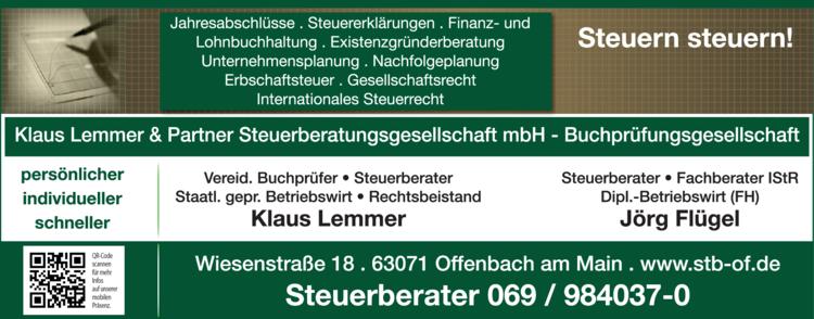 Anzeige Lemmer Klaus