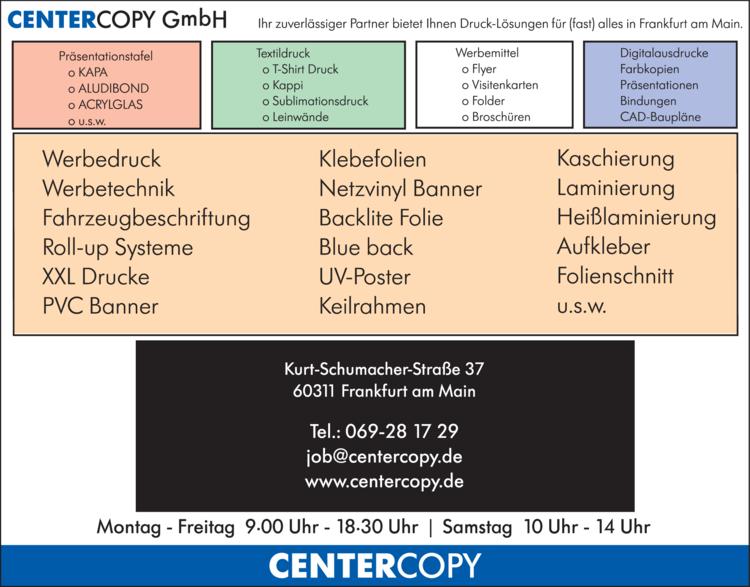 Anzeige Centercopy