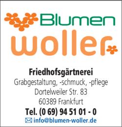 Anzeige Friedhofsgärtnerei Woller