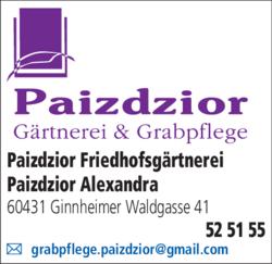 Anzeige Paizdzior Wolfgang