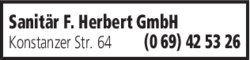 Anzeige Sanitär F. Herbert GmbH