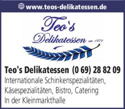 Anzeige Teo's Delikatessen
