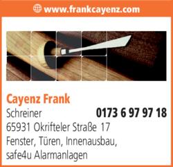 Anzeige Cayenz Frank