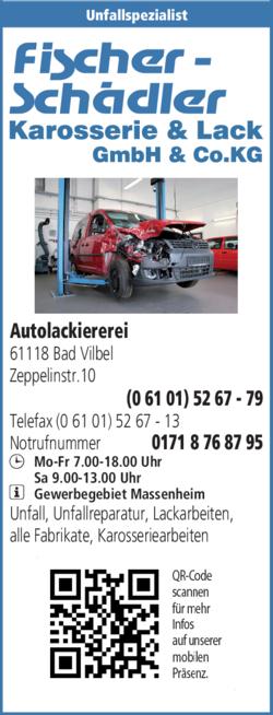 Anzeige Autolackiererei Fischer-Schädler