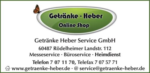 Anzeige Getränke Heber Service GmbH