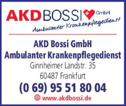 Anzeige Ambulanter Pflegedienst AKD Bossi
