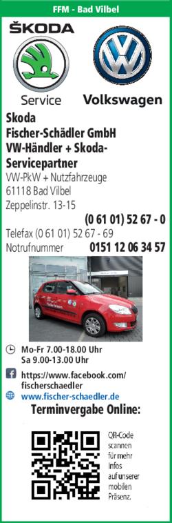 Anzeige Skoda Fischer & Schädler GmbH