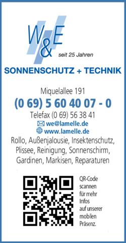 Anzeige Insektenschutz W & E Sonnenschutz + Technik