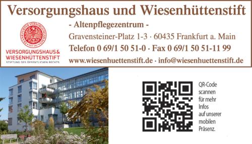 Anzeige Altenheim Altenpflegezentrum Versorgungshaus und Wiesenhüttenstift