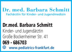 Anzeige Schmitt Barbara Dr. med.
