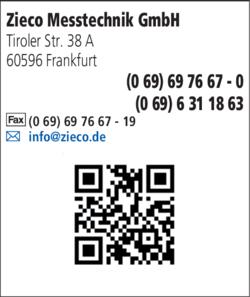Anzeige Zieco Messtechnik GmbH