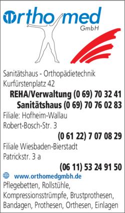 Anzeige Orthomed GmbH