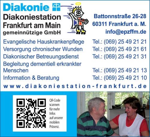 Anzeige Evangelische Hauskrankenpflege Diakoniestation Frankfurt