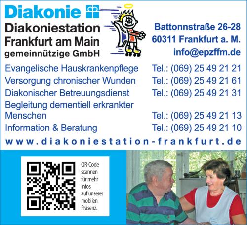 Anzeige Diakoniestation Frankfurt am Main