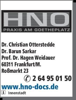 Anzeige HNO Praxis am Goetheplatz