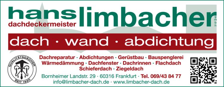 Anzeige Spenglerei Limbacher Hans Dachdeckermeister GmbH