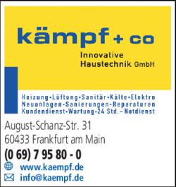 Anzeige Sanitär Kämpf + Co Innovative Haustechnik GmbH