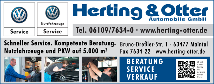 Anzeige VW Herting & Otter Automobile GmbH