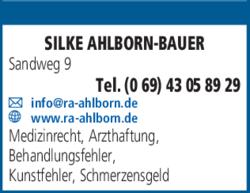 Anzeige Rechtsanwälte Ahlborn-Bauer Silke