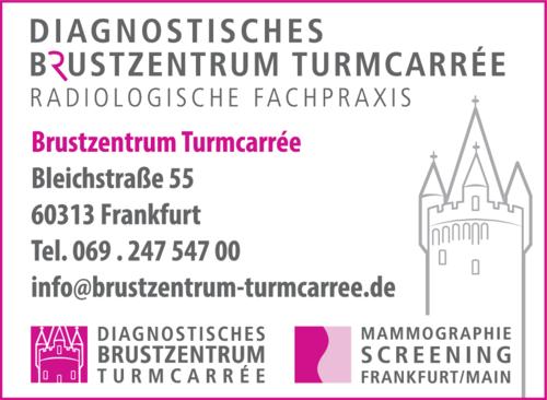 Anzeige Brustzentrum Turmcarrée vormals Brustzentrum Opernplatz
