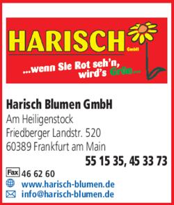 Anzeige Friedhofsgärtnerei Harisch Blumen GmbH