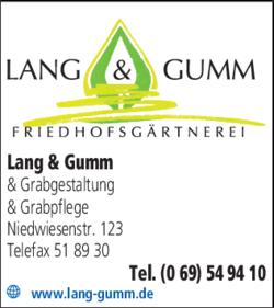 Anzeige Lang & Gumm
