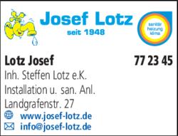 Anzeige Lotz Josef