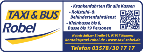 taxi bus robel in kamenz im das telefonbuch finden tel 03578 30 1. Black Bedroom Furniture Sets. Home Design Ideas
