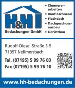 Anzeige H & H Bedachungen GmbH