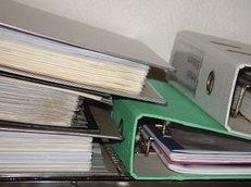 Alte Akten, Sortieren, Aktenvernichtung
