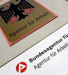 Hinweisschild, Arbeitsagentur, Bundesanstalt