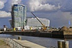 Autokran, Baustelle, Hamburg, Hafencity